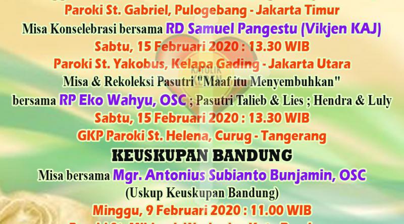 Misa World Marriage Day 2020 Jakarta Bandung