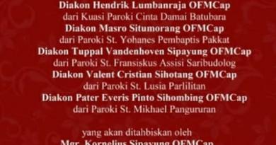 Tahbisan Imamat Keuskupan Agung Medan