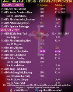 Rabu Abu Keuskupan Purwokerto
