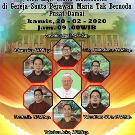 Tahbisan Imam Kapusin Pontianak Keuskupan Sanggau