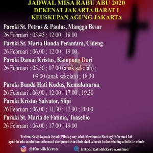 Misa Rabu Abu Dekenat Jakarta Barat I