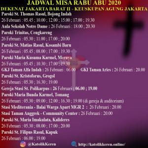 Misa Rabu Abu Dekenat Jakarta Barat II