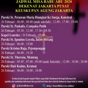 Misa Rabu Abu Dekenat Jakarta Pusat