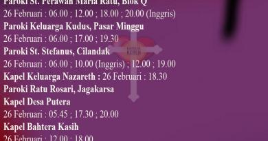 Rabu Abu Dekenat Jakarta Selatan