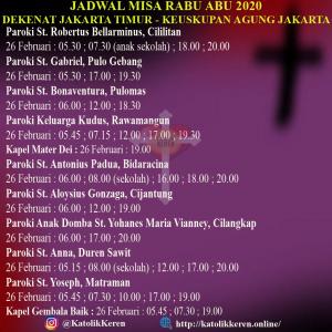 Misa Rabu Abu Dekenat Jakarta Timur
