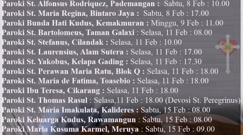 Misa Hari Orang Sakit Sedunia 2020 Keuskupan Agung Jakarta