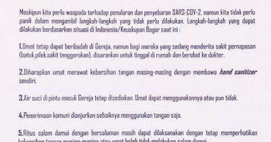 Himbauan Pencegahan Virus Corona Keuskupan Bogor