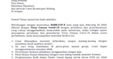 Pencegahan Virus Corona Keuskupan Malang