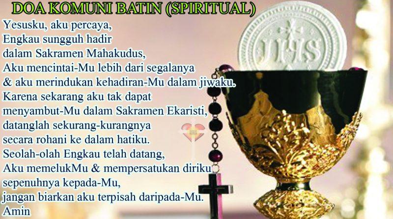 Doa Komuni Batin