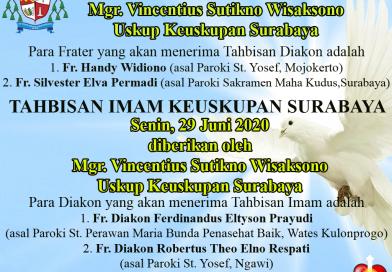 Tahbisan Imam & Diakon Keuskupan Surabaya