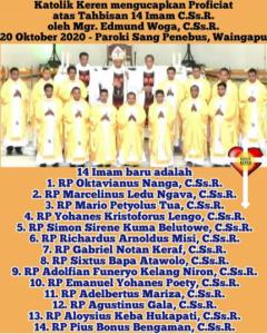 Tahbisan Imam C.Ss.R. 2020