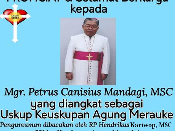 Pengangkatan Uskup Agung Merauke