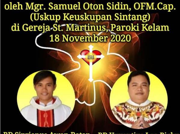 Tahbisan Imam Keuskupan Sintang 2020