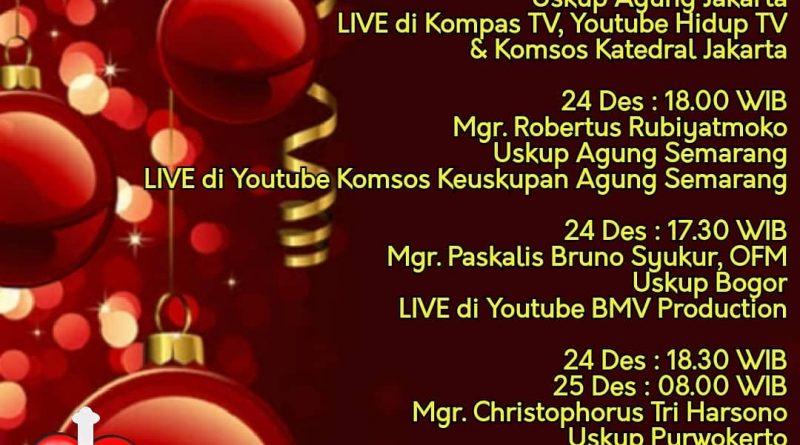 Misa Natal Uskup Regio Jawa 2020