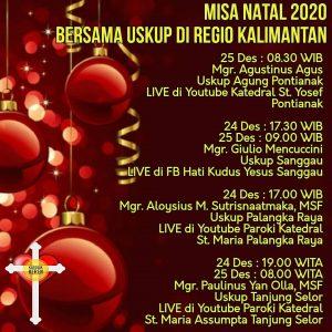 Misa Natal 2020 bersama Uskup Regio Kalimantan