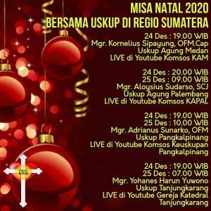 Misa Natal bersama Uskup di Regio Sumatera