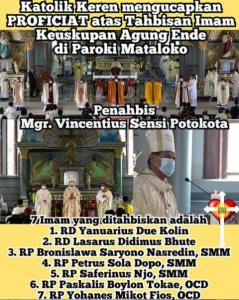 Tahbisan Imam Keuskupan Agung Ende 2021