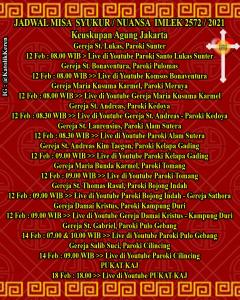 Misa Imlek 2021 Keuskupan Agung Jakarta