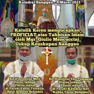 Tahbisan Imam Keuskupan Sanggau 2021