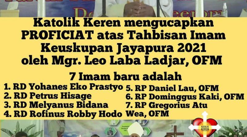 Tahbisan Imam Keuskupan Jayapura 2021