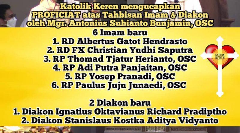 Tahbisan Imam & Diakon Keuskupan Bandung 2021