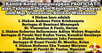 Tahbisan Diakon Keuskupan Surabaya 2021