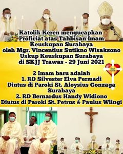 Tahbisan Imam Keuskupan Surabaya 2021