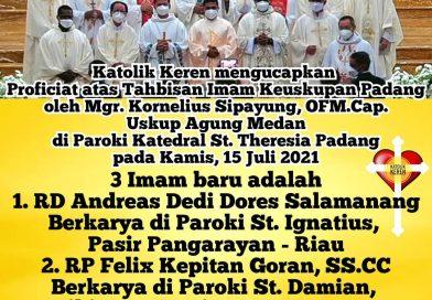 Tahbisan Imam Keuskupan Padang 2021
