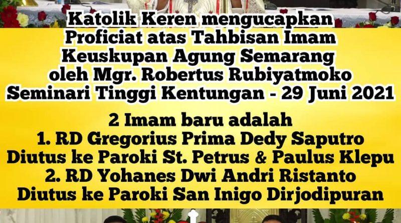 Tahbisan Imam Keuskupan Agung Semarang 2021