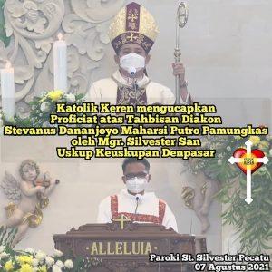 Tahbisan Diakon Keuskupan Denpasar 2021