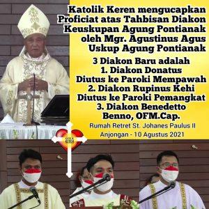 Tahbisan Diakon Keuskupan Agung Pontianak 2021