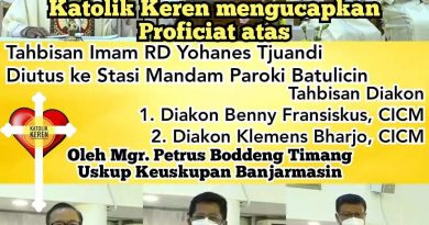 Tahbisan Imam & Diakon Keuskupan Banjarmasin 2021