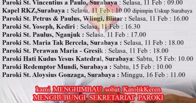 Misa Hari Orang Sakit Sedunia 2020 Keuskupan Surabaya