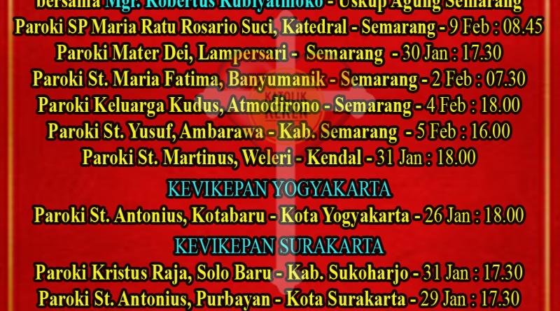 Misa Imlek 2020 Keuskupan Agung Semarang