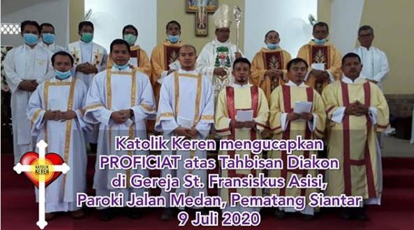 Tahbisan Diakon Keuskupan Agung Medan 2020
