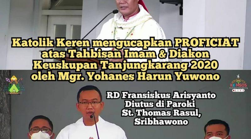 Tahbisan Imam & Diakon Keuskupan Tanjungkarang 2020