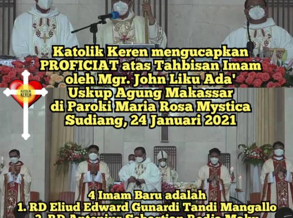 Tahbisan Imam Keuskupan Agung Makassar 2021