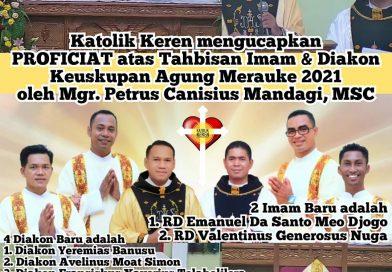 Tahbisan Imam Diakon Keuskupan Agung Merauke 2021