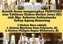 Tahbisan Diakon SJ Keuskupan Agung Semarang 2021