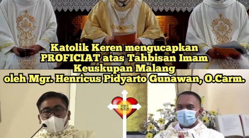 Tahbisan Imam Keuskupan Malang 2021