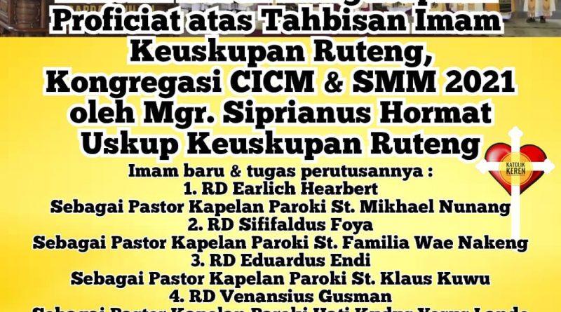 Tahbisan Imam Ruteng SMM CICM